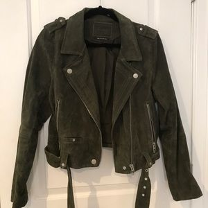 Blank NYC Green Suede Jacket